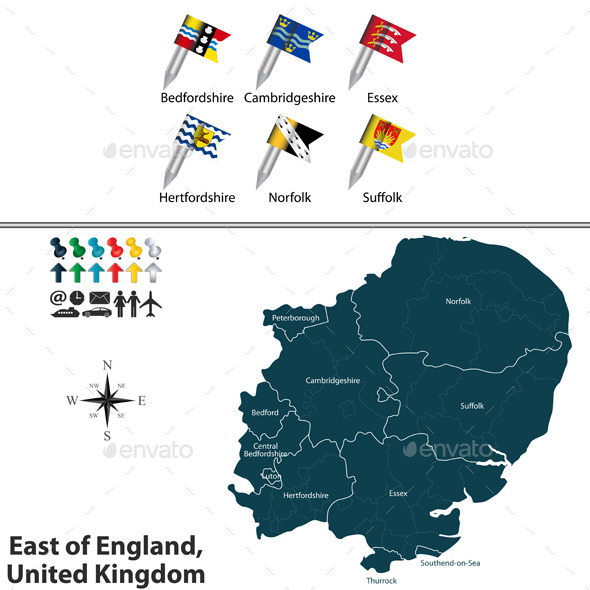 East of England, United Kingdom - Travel Conceptual