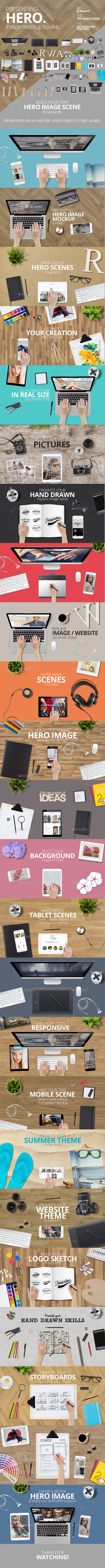 Hero Mockup Toolkit - Hero Images Graphics