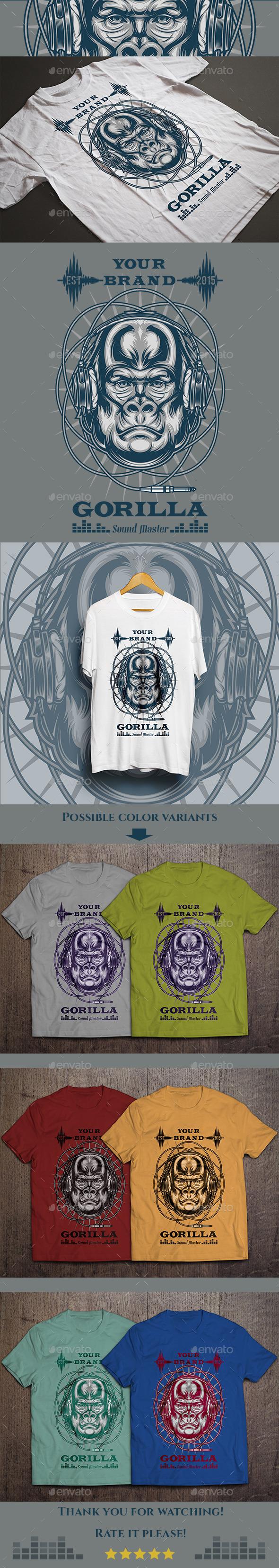 Gorilla Sound Master T-shirt - T-Shirts