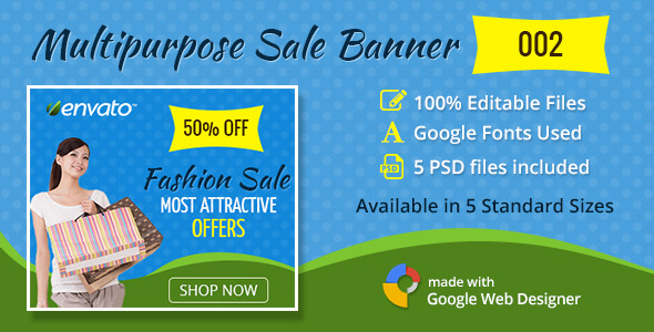 Multipurpose Sale Banner 002 - CodeCanyon Item for Sale