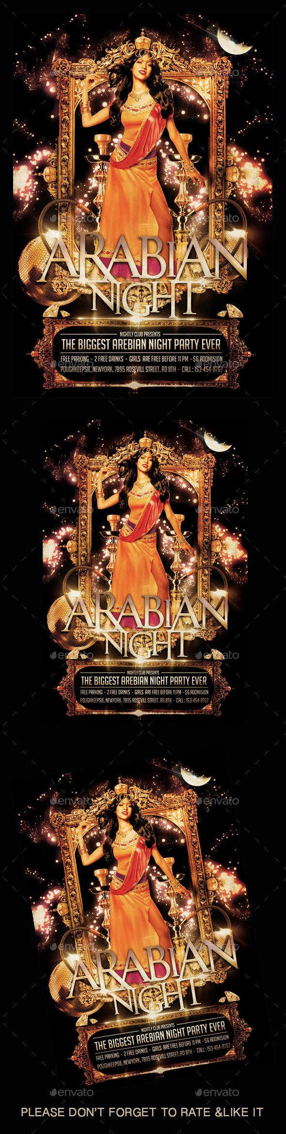 Arabin Night Flyer - Flyers Print Templates