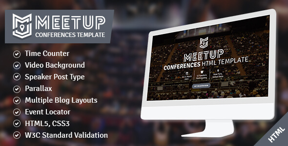 The Meetup - Conference and Event Responsive Template - Corporate Site Templates
