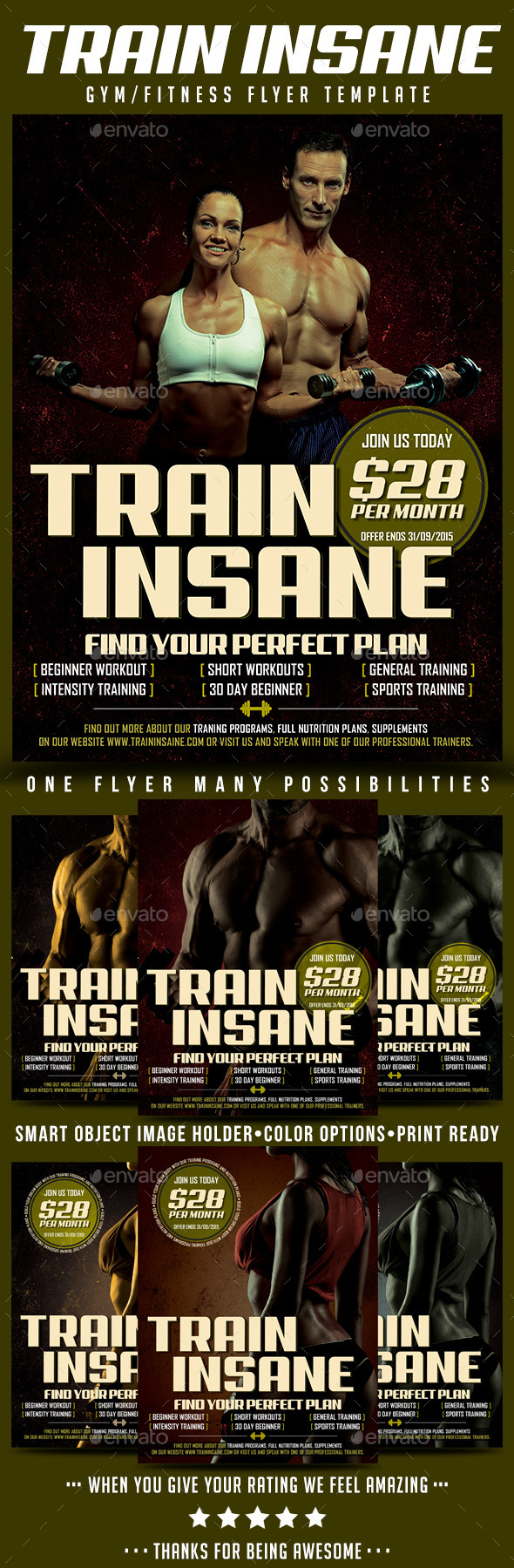 Gym/Fitness Flyer Template - Sports Events