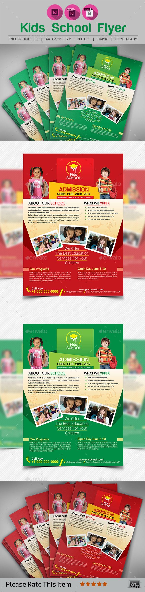 Kids School Flyer Template - Corporate Flyers