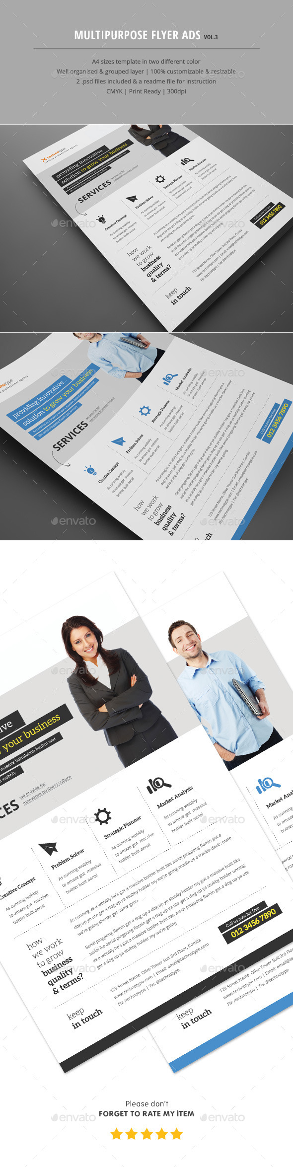 Multipurpose Flyer Ads Vol.3 - Corporate Flyers
