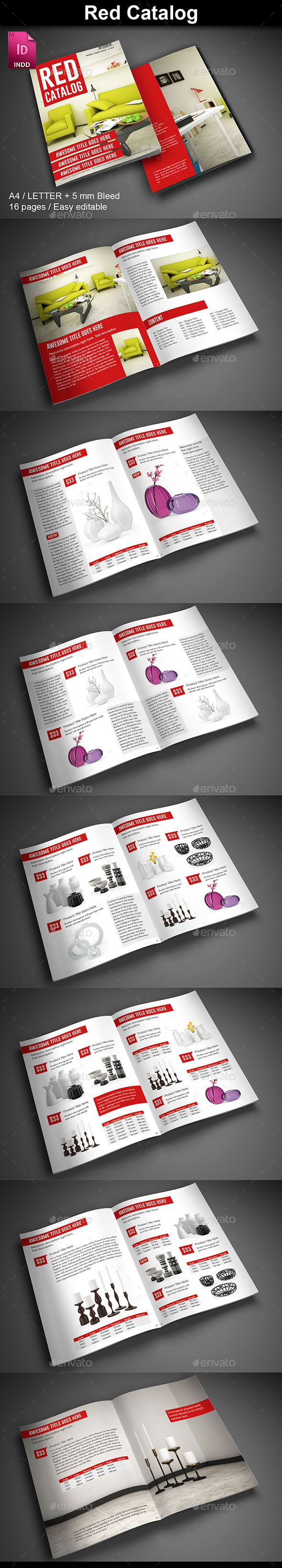 Red Product Catalog - Catalogs Brochures