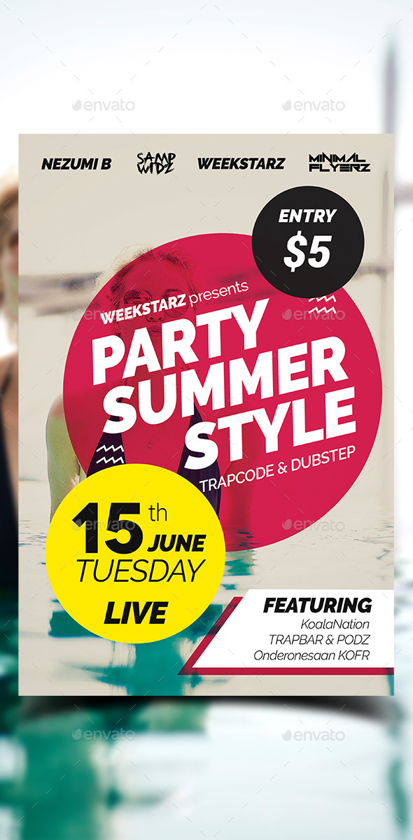 Summer Style Party Flyer - Clubs & Parties Events