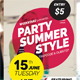 Summer Style Party Flyer - GraphicRiver Item for Sale
