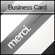 Merci. Clean and Modern Business Card - GraphicRiver Item for Sale