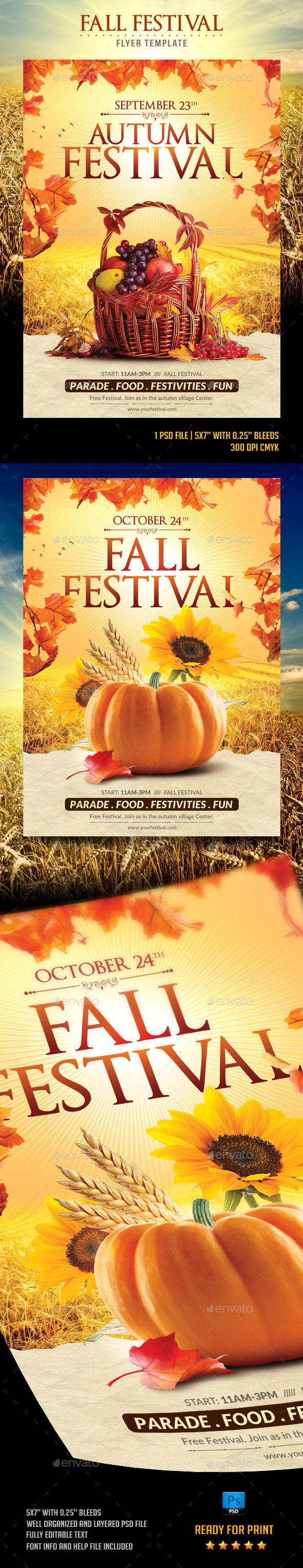 Fall Festival Flyer Template - Flyers Print Templates