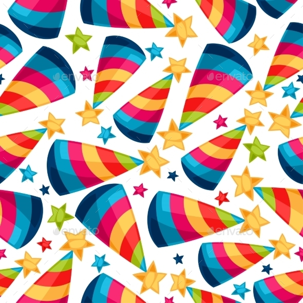 Celebration Festive Seamless Pattern With Fool - Seasons/Holidays Conceptual
