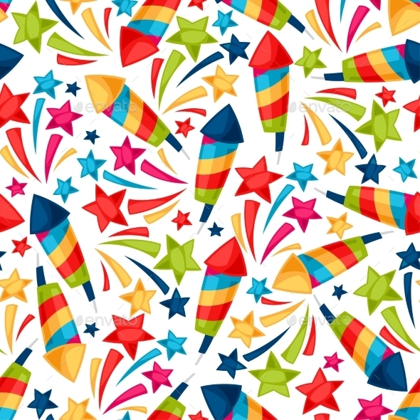 Celebration Festive Seamless Pattern With Colorful