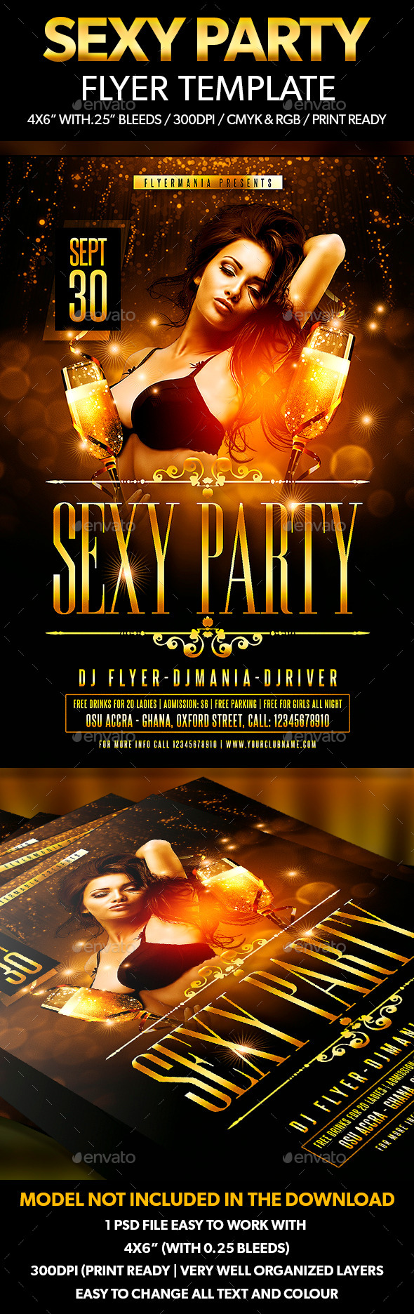 Sexy Party Flyer Template - Flyers Print Templates