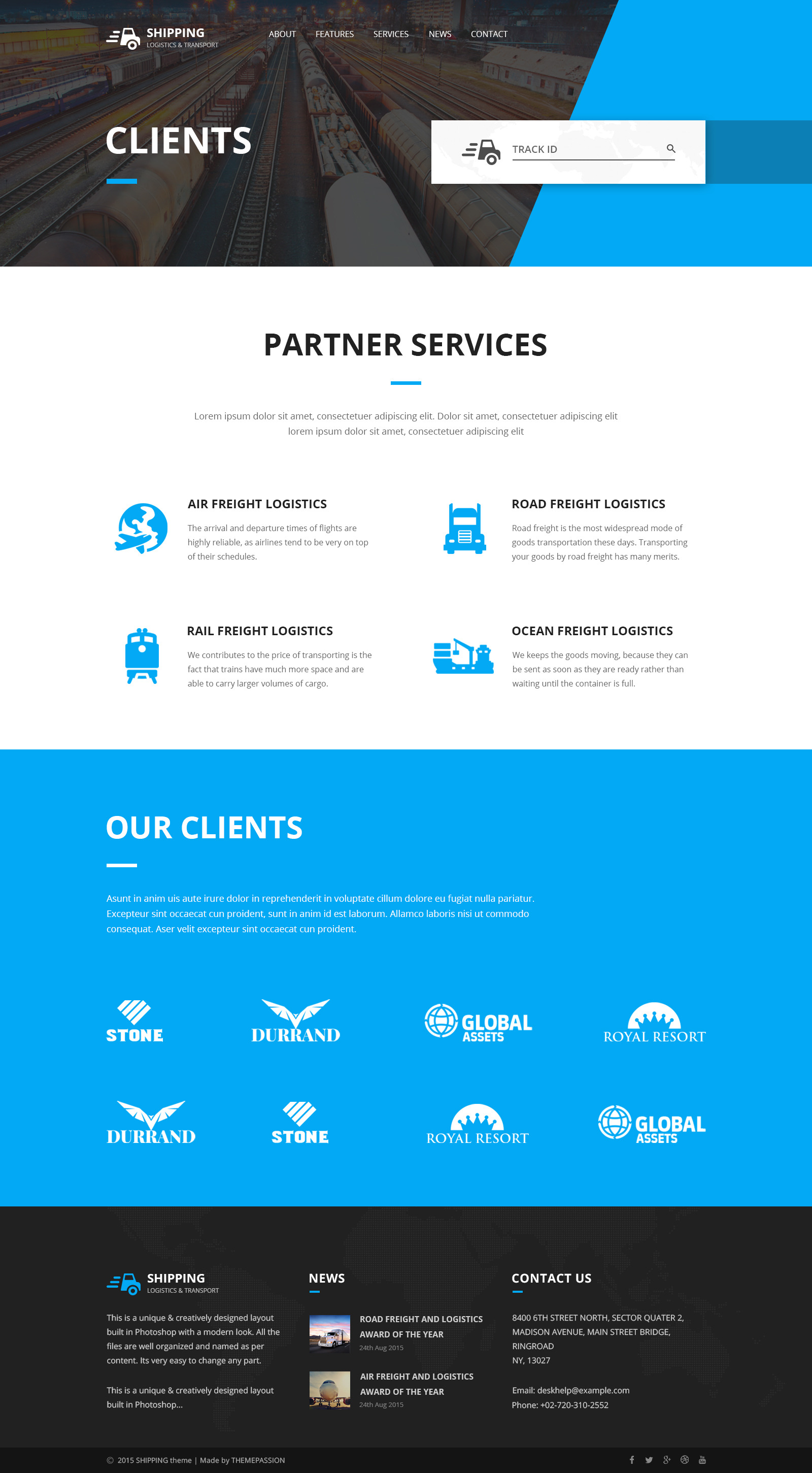 Shipping – Logistics & Transport PSD Template by themepassion ...