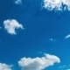 Clouds Moving In The Blue Sky - VideoHive Item for Sale