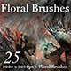 25 Floral Photoshop Brushes - GraphicRiver Item for Sale