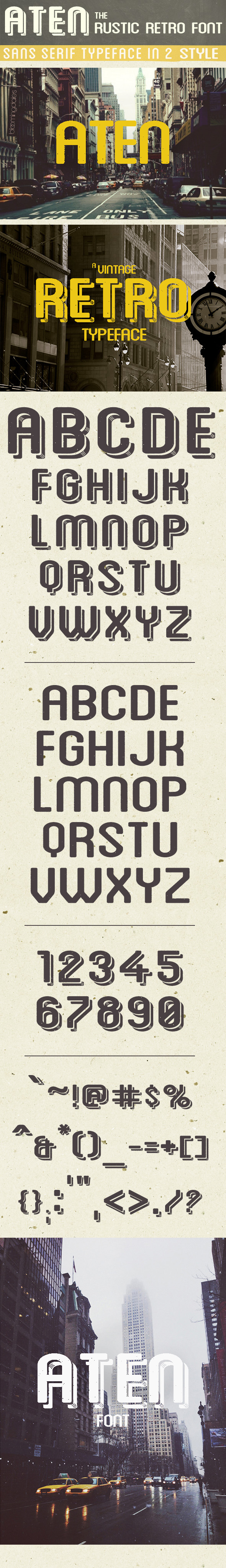 Aten - Sans-Serif Fonts