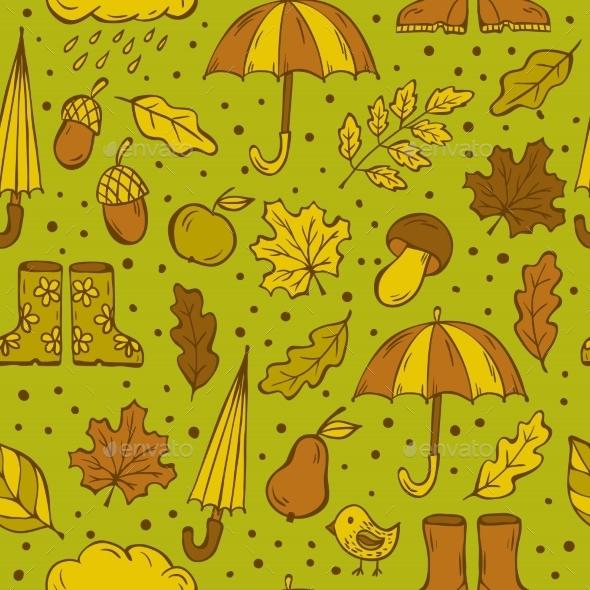 Autumn Doodles Pattern - Seasons Nature