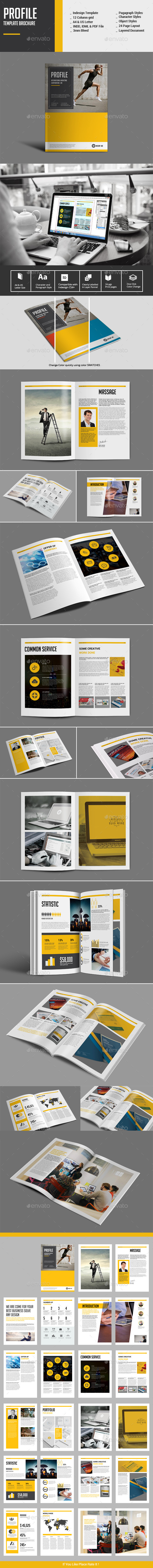 Profile Template Brochure