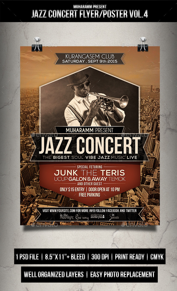Jazz Concert Flayer Poster Vol.4