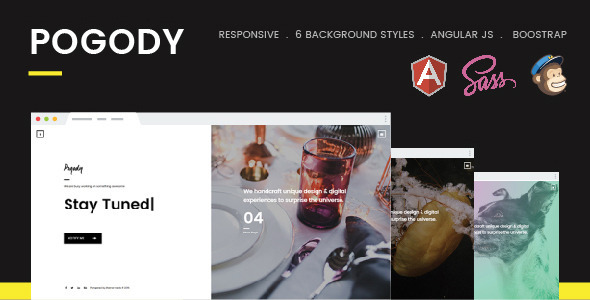 Pogody – Responsive HTML5 Coming Soon Template