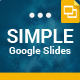 Simple Google Slides Presentation Template - GraphicRiver Item for Sale