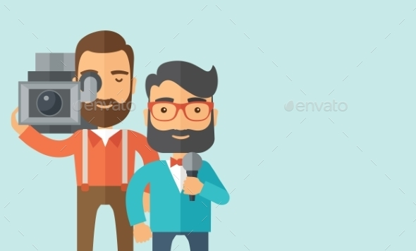 Jourmalist And News Reporter. - People Characters