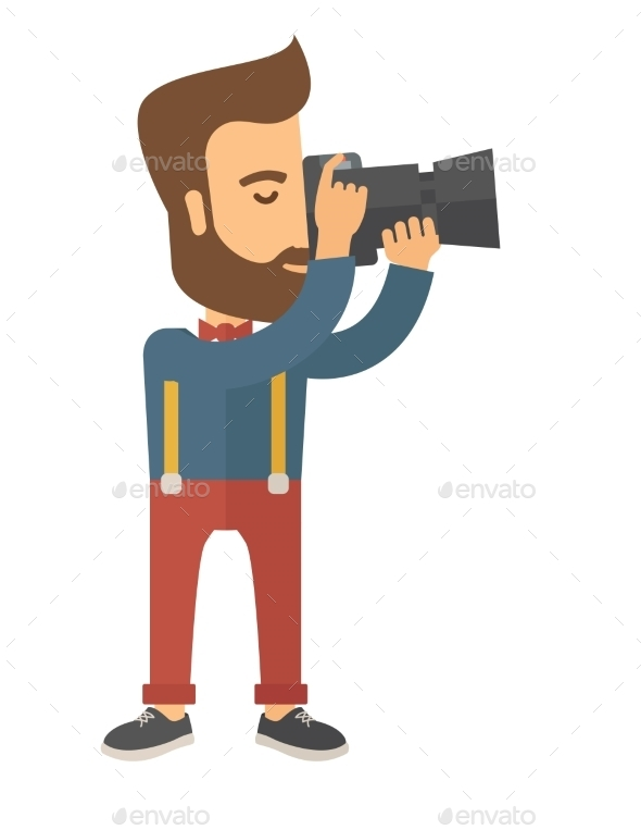 Photographer Taking a Picture. - People Characters
