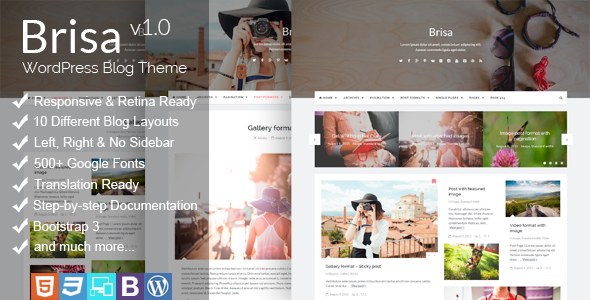Brisa – Responsive WordPress Blog Theme