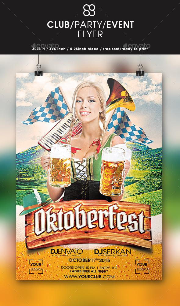 Oktoberfest Flyer Design - Clubs & Parties Events