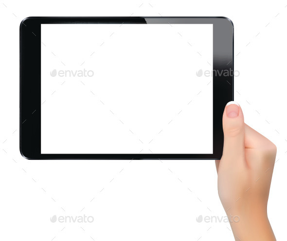 Hand Holding Digital Tablet - Concepts Business