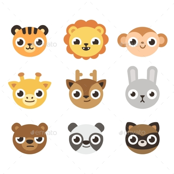 Cartoon Animal Faces - Animals Characters