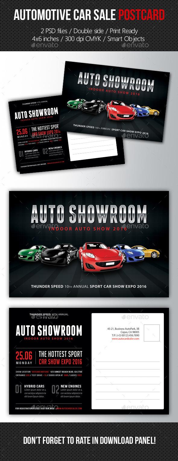 Automotive Car Sale Postcard Template V03 - Cards & Invites Print Templates