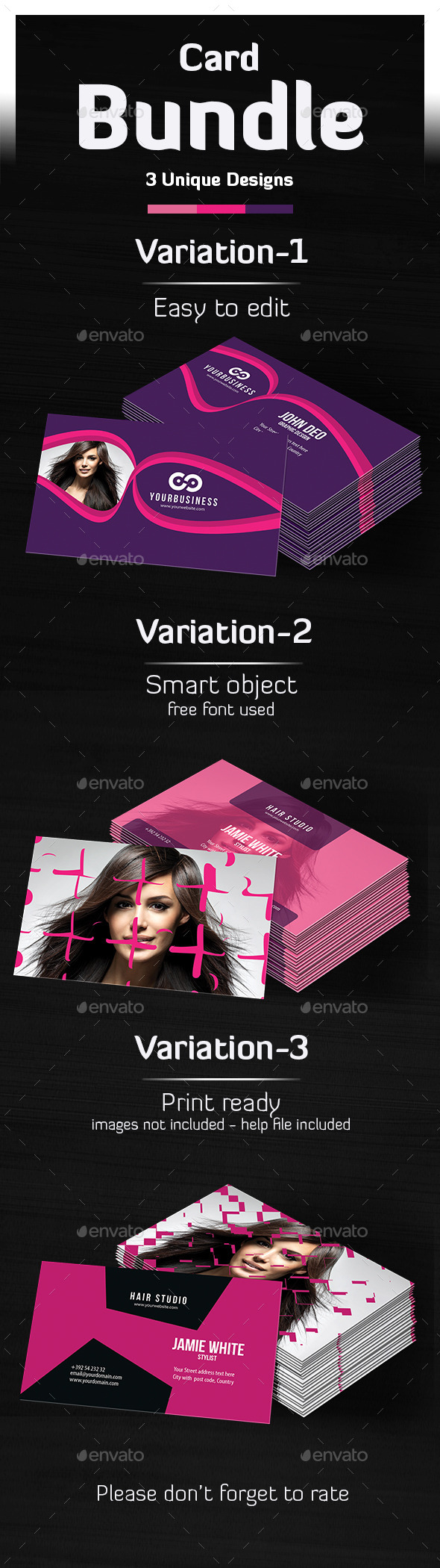 Salon Business Card Bundle  - Industry Specific Business Cards