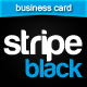 Stripe Black Business Card  - GraphicRiver Item for Sale