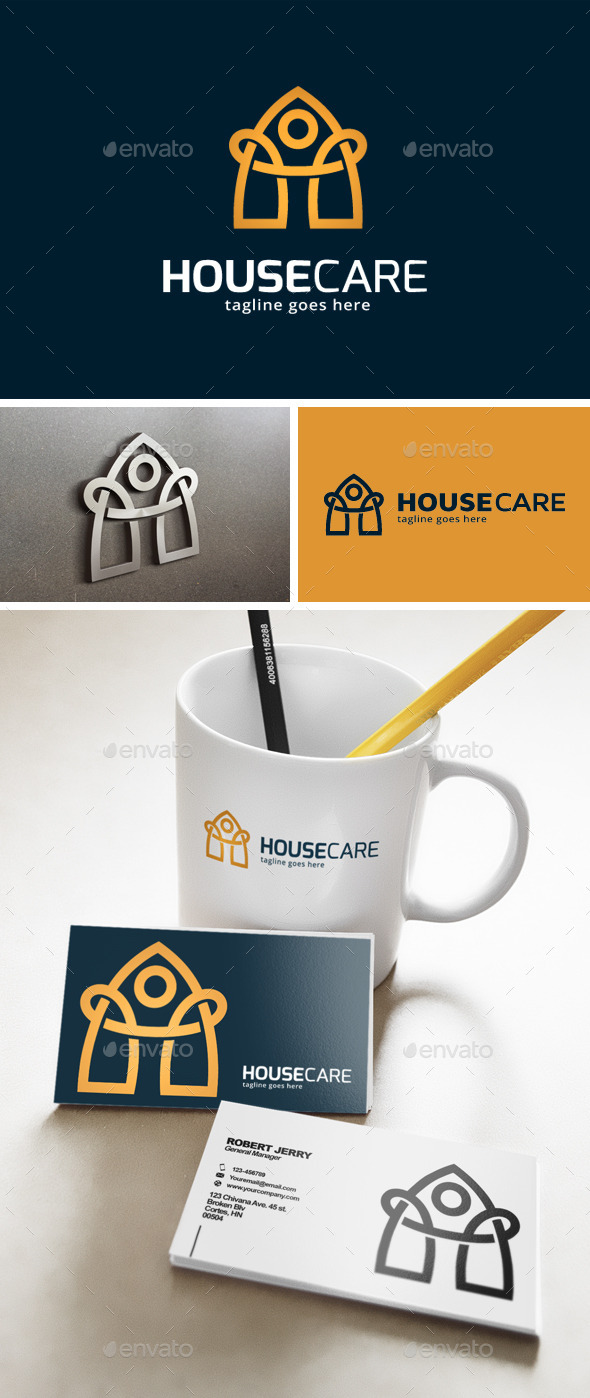 House Care Logo  - Buildings Logo Templates