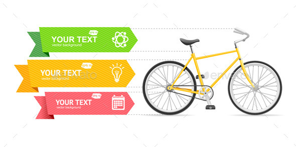 Bike Option Banner Vector