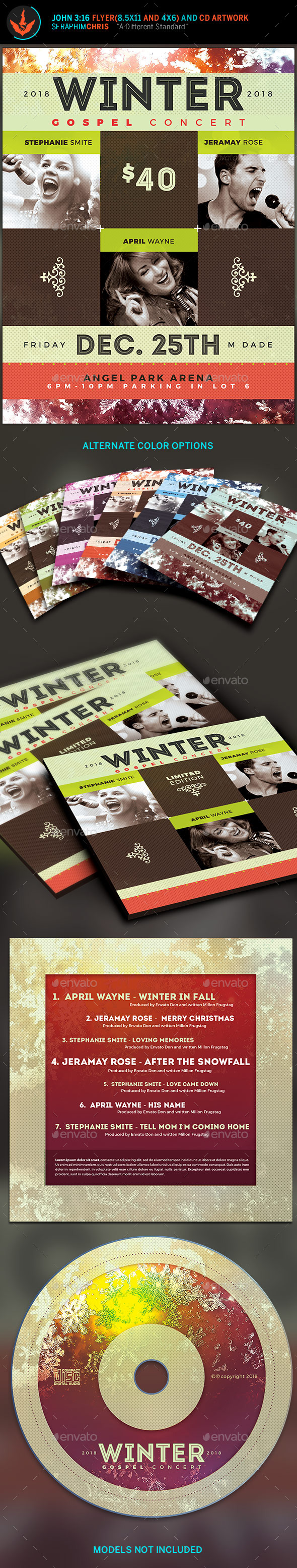 Winter Spring Gospel Concert Flyer - Church Flyers