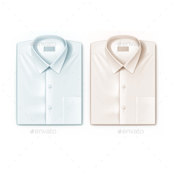 Classic Men Shirt Set Isolated Vector Illustration - Objects Vectors