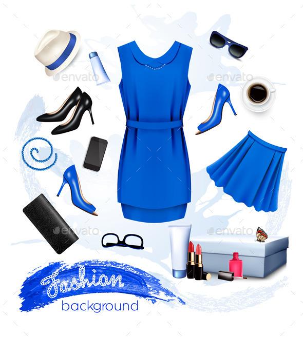Collage of Fashion Female Accessories