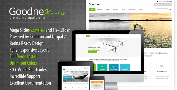 Image of Goodnex - Responsive Drupal 7 Theme