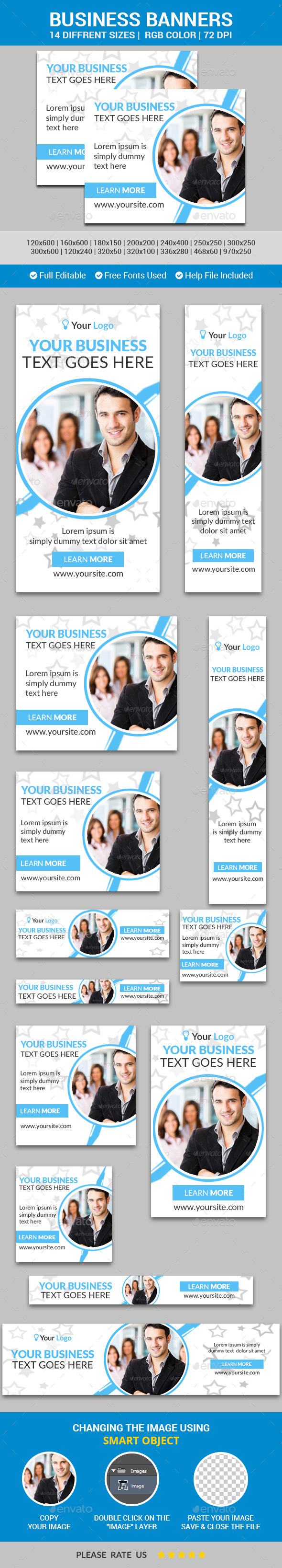 Business Banners v9 - Banners & Ads Web Elements
