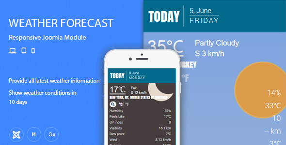 Weather Forecast Responsive Joomla Extension