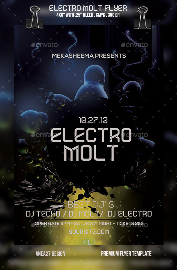 Electro Molt Flyer - Clubs & Parties Events