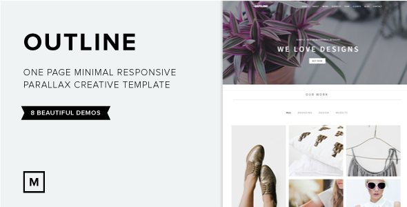 Outline – OnePage Creative Parallax Template