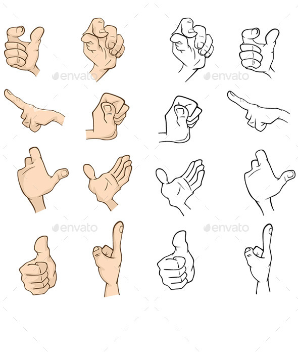 Set of Hands for your Design