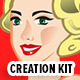 Pin-Up Lady Mascot Creation Kit - GraphicRiver Item for Sale