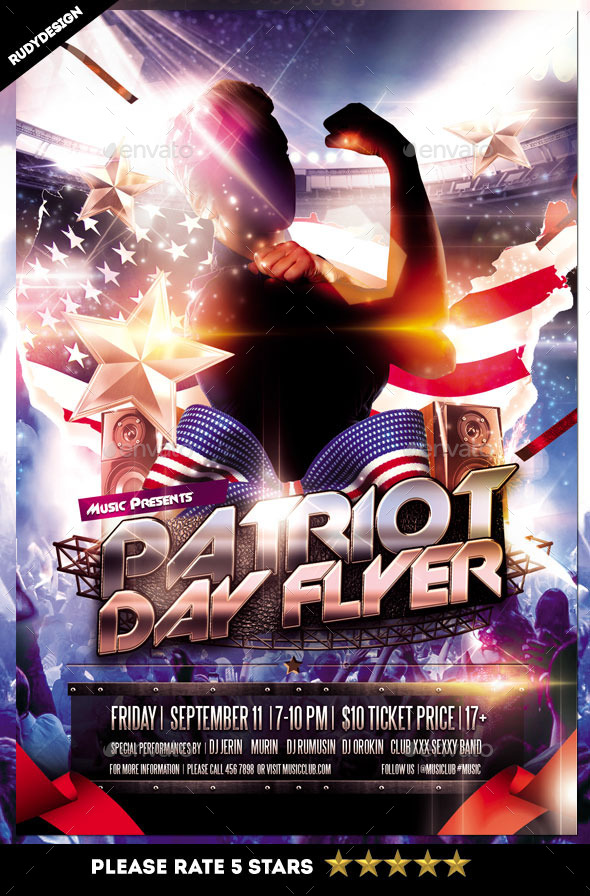 Patriot Day Flyer - Events Flyers