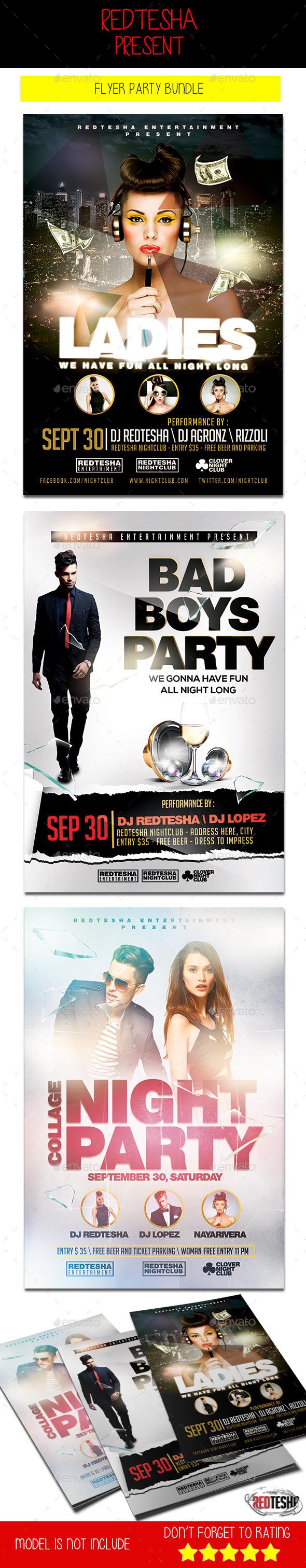 Flyer Party Bundle - Clubs & Parties Events