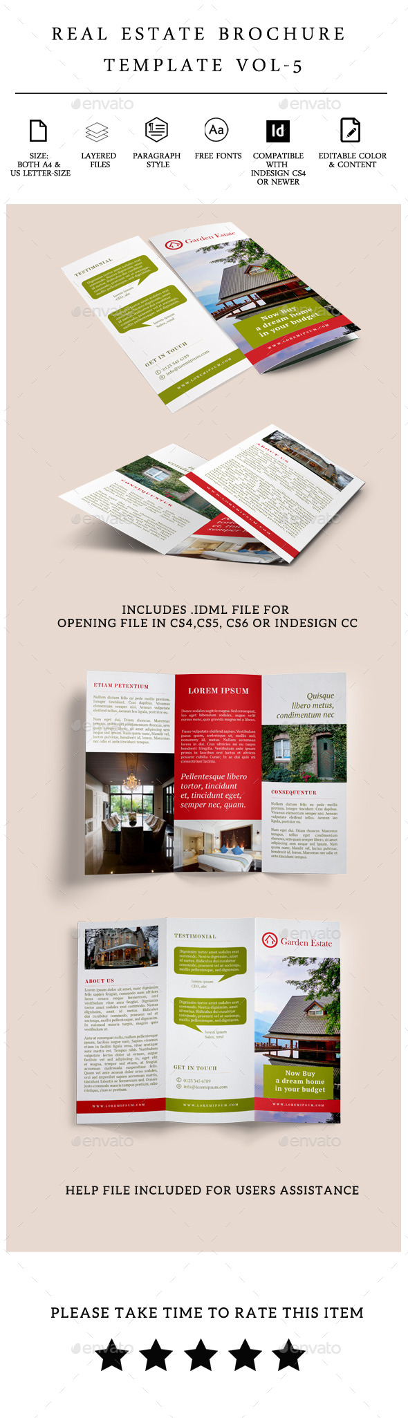 luxury brochure template - luxury real estate brochure templates